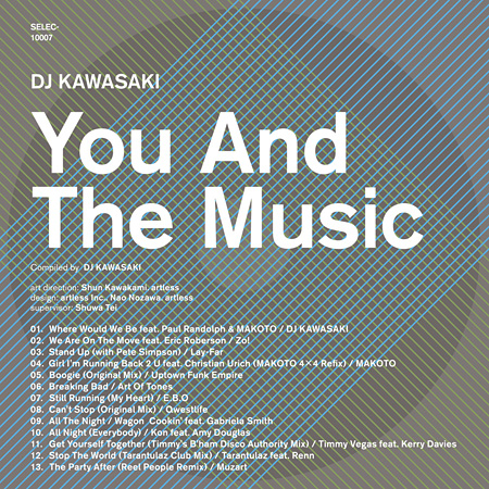 DJ KAWASAKI『YOU AND THE MUSIC』ジャケット