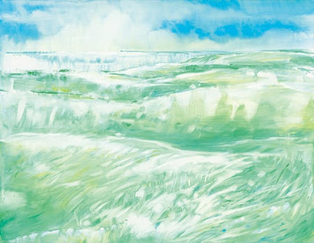根本有華『ヒカリノアリカ』530×410mm アクリル絵具 キャンバス 2012
