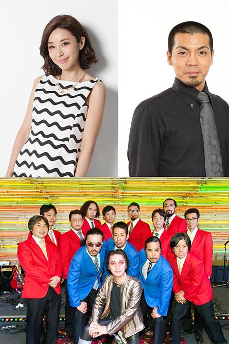 上段左から時計回りに鈴木紗理奈、川原克己、赤犬