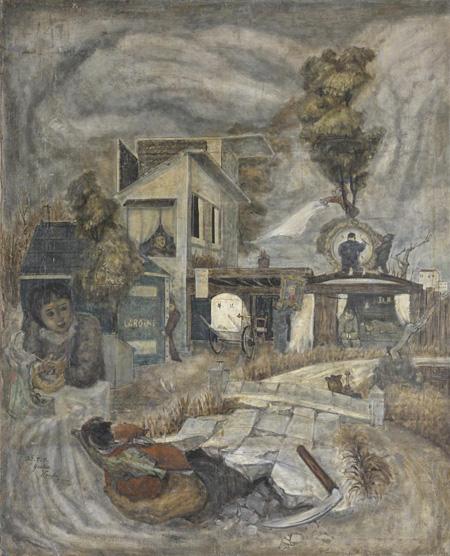 近藤嘉男『作品A』1948年カンバス、油彩162.1×130.4前橋市/アーツ前橋蔵