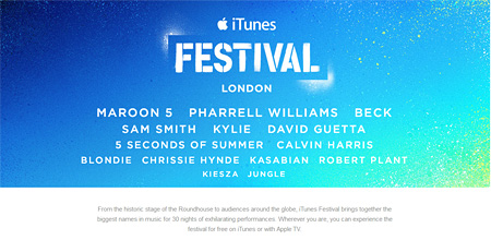 『iTunes Festival London 2014』オフィシャルサイトより