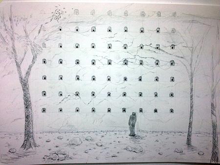 宮島達男『Hundred Life Houses』作品プラン