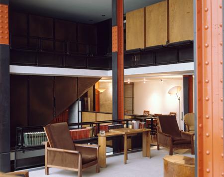 ピエール・シャロー『ガラスの家』1927-1931年 PhotocCentre Pompidou - MNAM Bibliothèque Kandinsky - Georges Meguerditchian