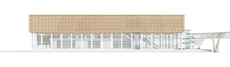 大分県立美術館パース図(建物) ©CDL