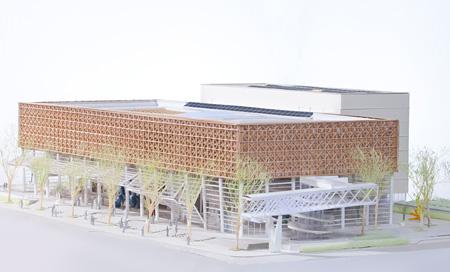 大分県立美術館建物模型写真