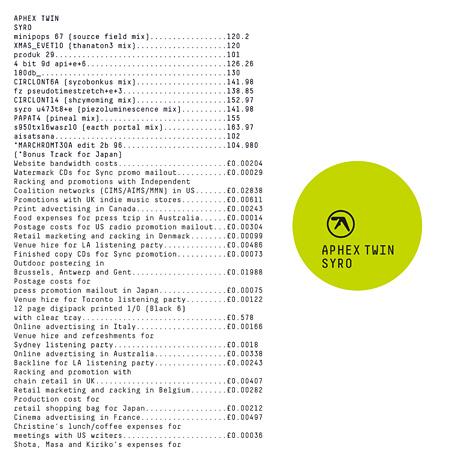 Aphex Twin『SYRO』日本盤ジャケット