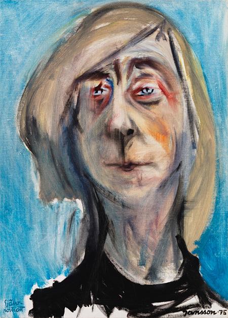 トーベ・ヤンソン《自画像》個人蔵 1975年 油彩・カンヴァス 65×47cm © Tove JanssonEstate