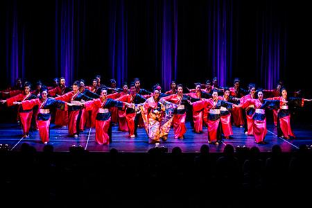 都内高校ダンス部による演技(平成25年度の公演より)