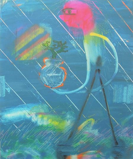 二艘木洋行『梨』2012 アクリル絵具、カンバス 727 x 609 mm Courtesy of TALION GALLERY