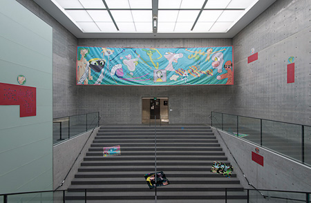 二艘木洋行『現代絵画のいま」展の展示風景(兵庫県立美術館 2012)Courtesy of TALION GALLERY