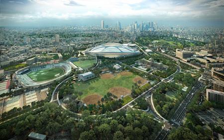 『新国立競技場』東京 2012~ ©Zaha Hadid Architects