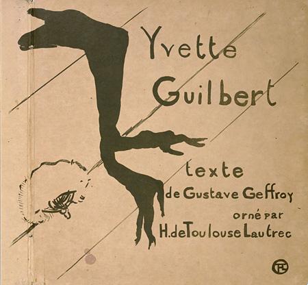 アンリ・ド・トゥールーズ=ロートレック『イヴェット・ギルベール』表紙 1894年刊 ポーラ美術館蔵