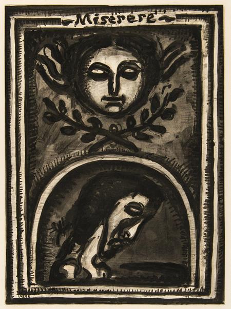 ジョルジュ・ルオー《神よ、われを憐れみたまえ、あなたの大いなる慈しみによって》『ミセレーレ』 1948年刊 ポーラ美術館蔵