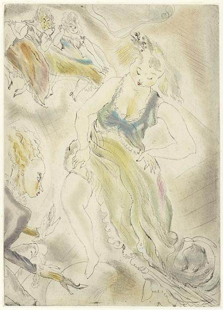 ジュール・パスキン『サンドリヨン』より 1929年刊 ポーラ美術館蔵