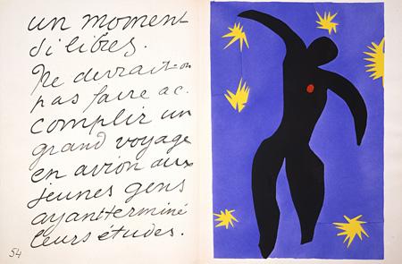 アンリ・マティス 《イカロス》『ジャズ』 1947年刊 ポーラ美術館蔵