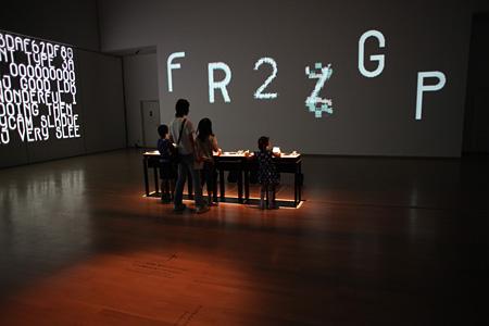セミトラインスタレーション展『tFont/fTime』2009, 山口情報芸術センター[YCAM]