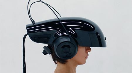 SR(代替現実)システムを搭載したヘッドマウントディスプレイ(理化学研究所開発)