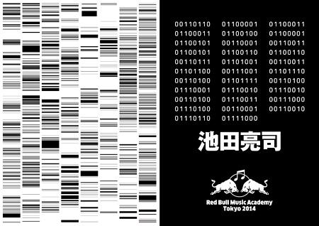 池田亮司『Red Bull Music Academy Tokyo 2014』キャンペーンビジュアル アートワーク:池田亮司