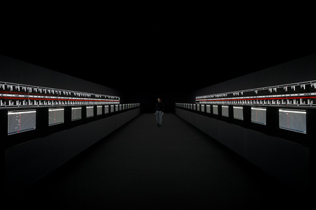 『supersymmetry [experience]』, audiovisual installation, 2014 ©Ryoji Ikeda, photo by Ryuichi Maruo