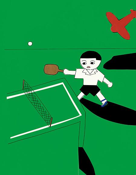 安西水丸「ガロ」表紙原画 1981