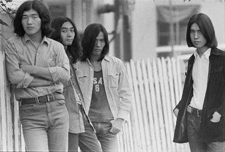 はっぴいえんど『風街ろまん』ジャケット撮影 1971年 ©mike nogami