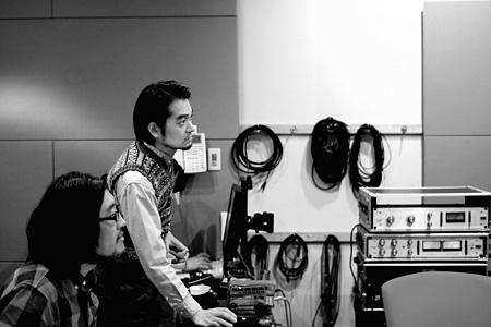 堀込泰行と冨田恵一によるレコーディング風景