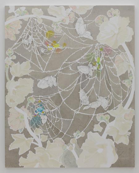 染谷悠子『清潔な沈黙』2014 和紙、墨、リトグラフインク、水彩、鉛筆 ©Yuko Someya