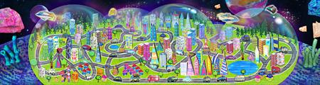 『3Dお絵かきタウン』チームラボ、2014