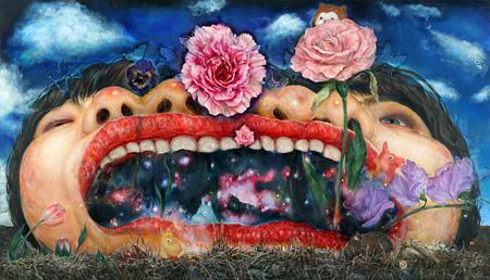 松井えり菜  『じゅていむ 喉からflower が出るほど...』(参考作品) Photo:Keizo Kioku Courtesy of YAMAMOTO GENDAI