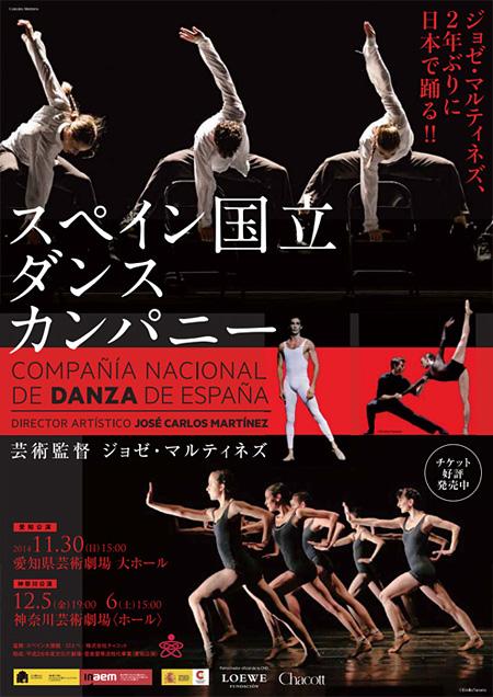 スペイン国立ダンスカンパニー来日公演チラシビジュアル