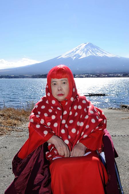『ザ・プレミアム 草間彌生の富士山 ~浮世絵版画への挑戦~』 ©YAYOI KUSAMA