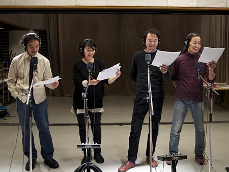 左から首藤康之、松たか子、長塚圭史、近藤良平