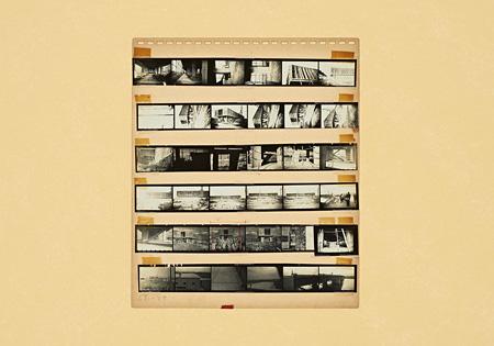 丹下健三が自身の作品を自ら撮影したコンタクトシート