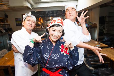 左からANI、篠原ともえ、ピエール瀧 photo by Tetsuya Yamakawa