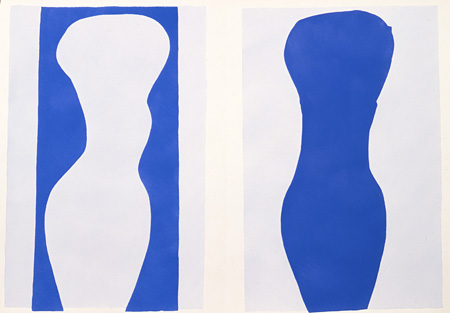アンリ・マティス『「ジャズ」9 形態』1947年 ステンシル、紙 40.8×57.7cm 所蔵:神奈川県立近代美術館
