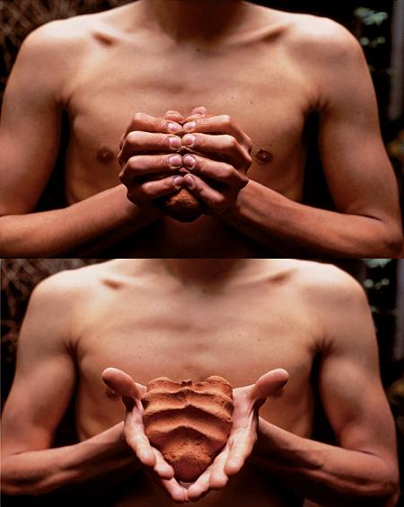 ガブリエル・オロスコ『My Hands Are My Heart』1991年 チバクローム2点組