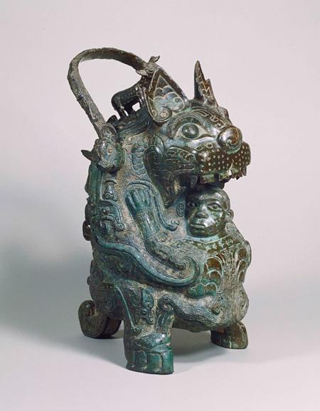 重要美術品 虎卣 中国・西周時代 紀元前11世紀 京都・泉屋博古館蔵