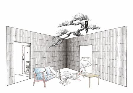 束芋『あいたいせいじょせい』(参考イメージ)2015年 映像インスタレーション ©Tabaimo/Courtesy of Gallery Koyanagi