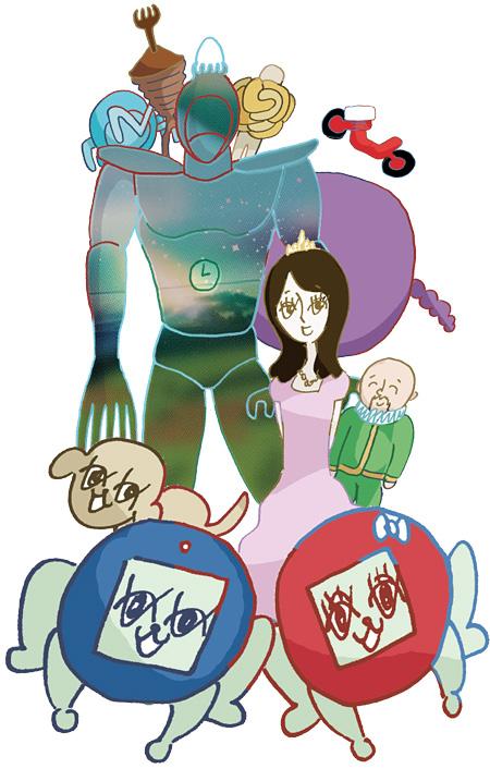 『月刊ウォンブ!プレゼンツ「ユニバーススタジオジャパン」』キャラクタービジュアル