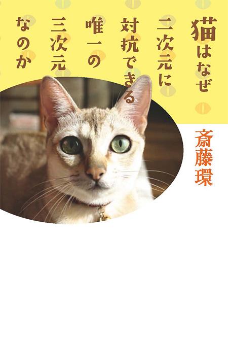 斎藤環『猫はなぜ二次元に対抗できる唯一の三次元なのか』表紙