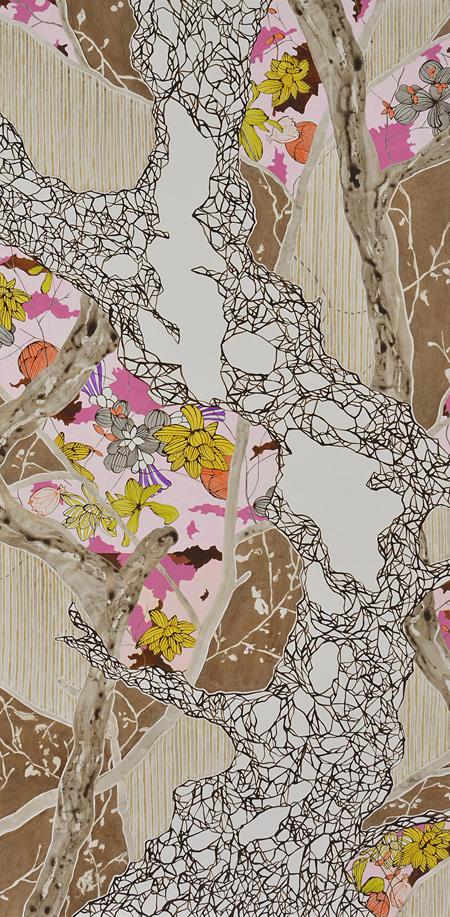優秀賞 大橋麻里子『La Foret』2014年 油彩、アクリル、色鉛筆、キャンバス