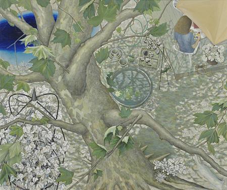 優秀賞 和田和子『ガーデン(木洩れ日)』2014年 油彩、キャンバス