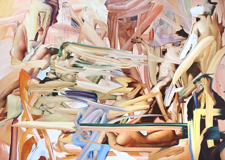 今津景 Nude Colors 2014 キャンバスに油彩 H227.3xW162cm Courtesy of YAMAMOTO GENDAI