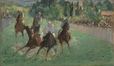 エドゥアール・マネ 『競馬のレース』 1875年頃 油彩・カンヴァス National Gallery of Art, Washington, Widener Collection