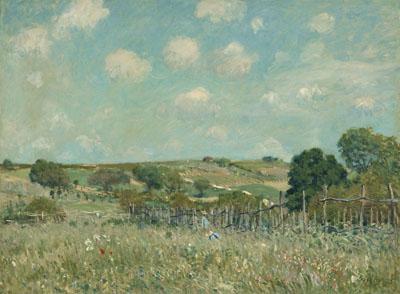 アルフレッド・シスレー 『牧草地』 1875年 油彩・カンヴァス National Gallery of Art, Washington, Ailsa Mellon Bruce Collection