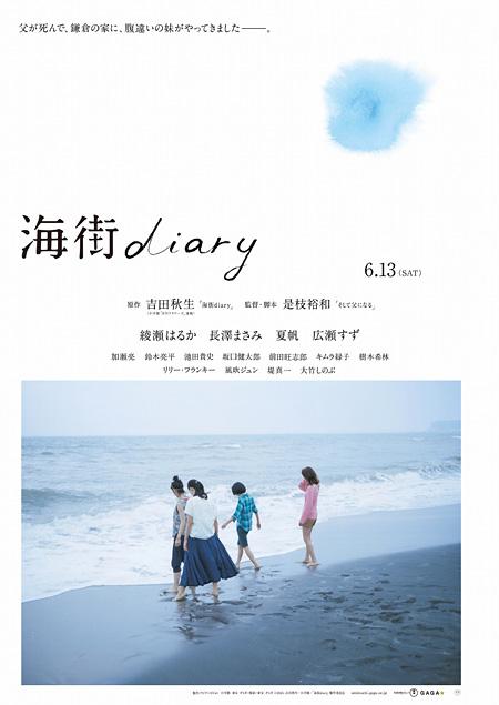 『海街diary』ティザーポスタービジュアル ©2015 吉田秋生・小学館/フジテレビジョン 小学館 東宝 ギャガ