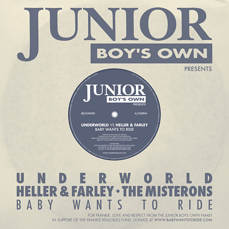 Underworld『Junior Boys Own presents: Baby Wants to Ride』ジャケット