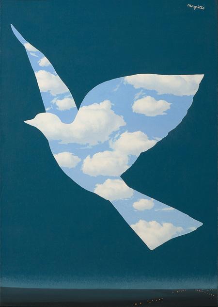 『空の鳥』1966年 油彩/カンヴァス 68.5 x 48 cm ヒラリー&ウィルバー・ロス蔵 Hilary & Wilbur Ross © Charly Herscovici / ADAGP, Paris, 2015 © Photothèque R. Magritte / BI, ADAGP, Paris / DNPartcom, 2015