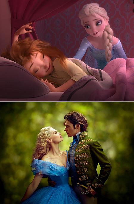 上:『アナと雪の女王/エルサのサプライズ』、下:『シンデレラ』 ©2015 Disney Enterprises, Inc. All Rights Reserved.