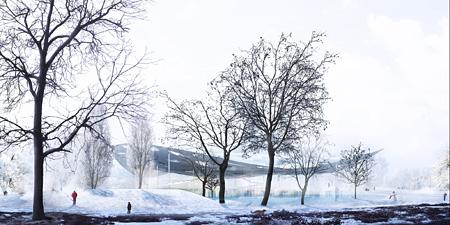 『Liget Budapest House of Hungarian Music 国際設計競技』案(ハンガリー、ブタペスト/2015 年) ©Sou Fujimoto Architects